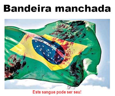 Resultado de imagem para Bandeira do rio com sangue