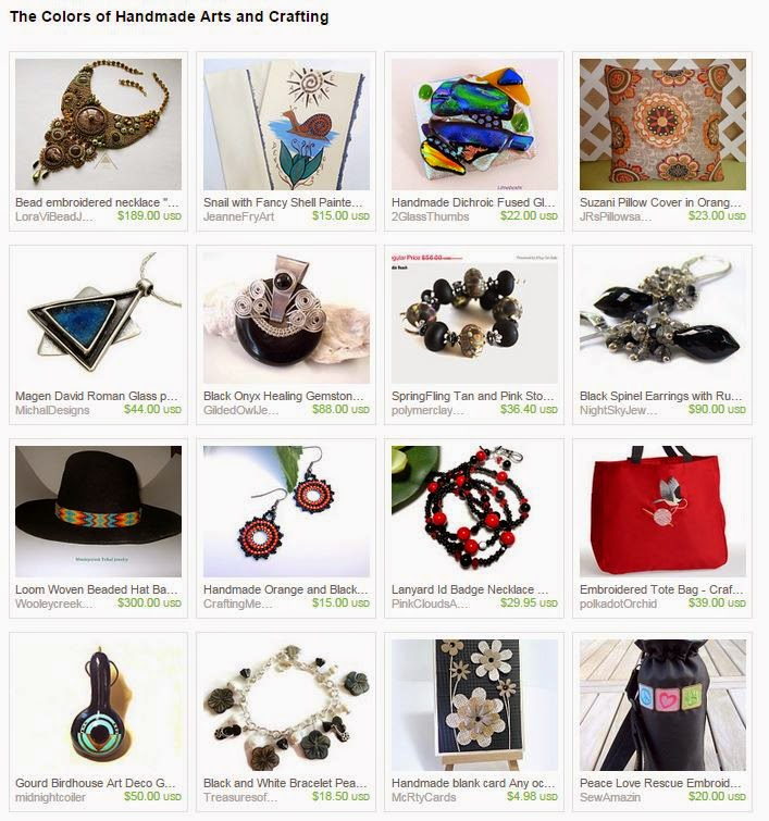 The Colors of Handmade Arts and Crafting treasury by PinkCloudsAndAngels on Etsy