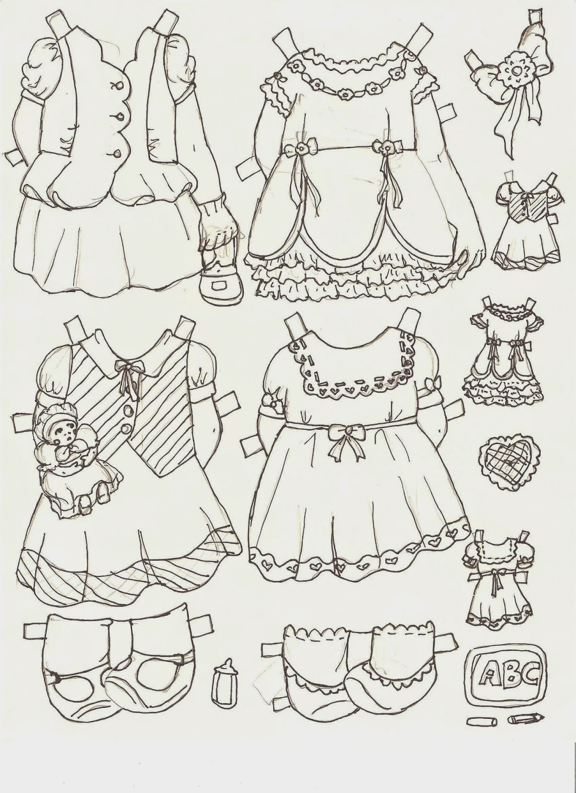 Miss Missy Paper Dolls: Maxine and Mayble Part 3