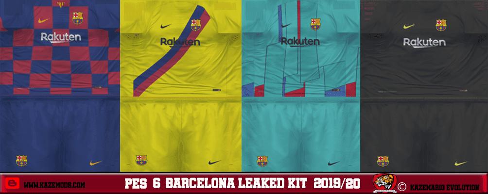 dc17eff92 PES 6 Barcelona Leaked Kits 2019 20 - Kits by Manolucas
