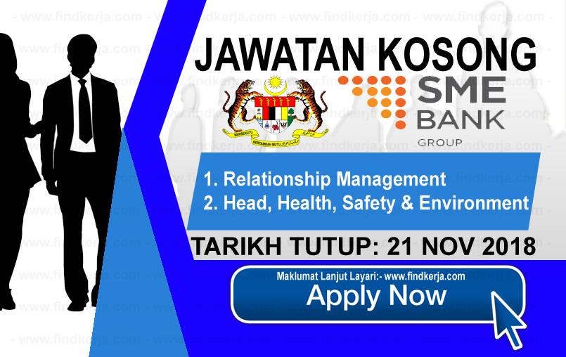 Jawatan Kerja Kosong SME Bank Group logo www.ohjob.info www.findkerja.com november 2018