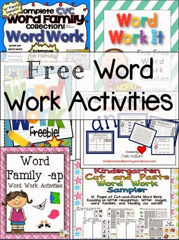 http://www.teacherspayteachers.com/Product/Word-Work-ap-Family-Activity-Pack-1201793