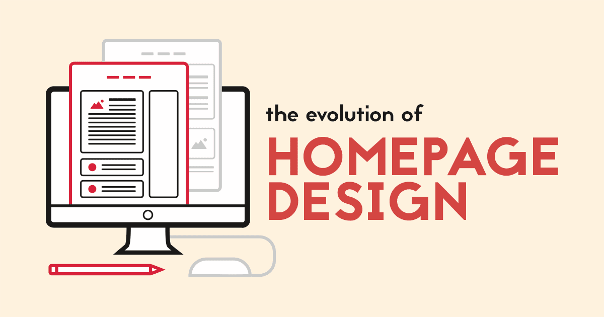 evolution of homepage design