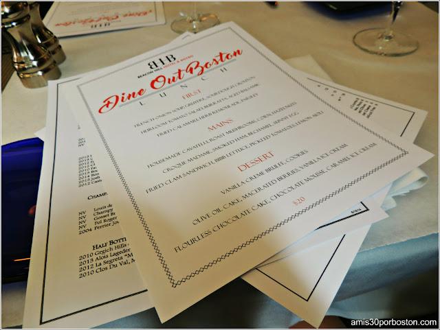 Dine Out Boston Agosto 2016: Beacon Hill Bistro
