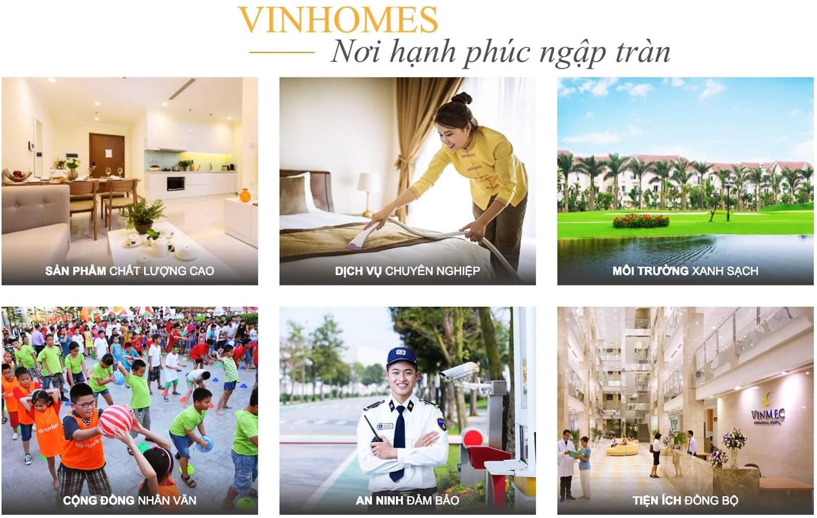 Tiện ích dịch vụ Vinhomes