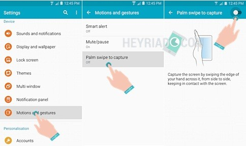 Begini Cara Screenshot Samsung Galaxy A5 2017 Tanpa Menekan Tombol dan Tanpa Aplikasi.