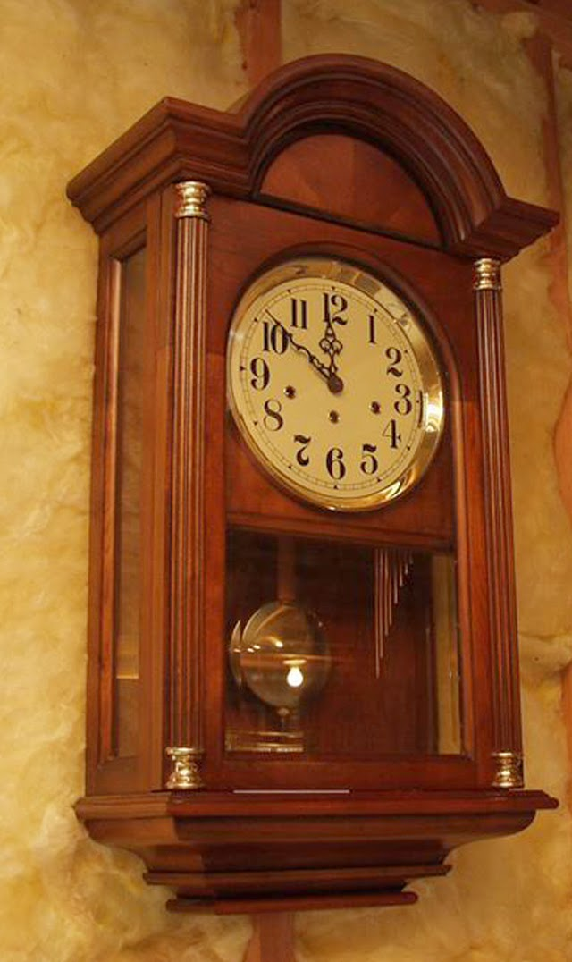 The Clock A Beautiful Howard Miller Triple Chime Wall Model Had Been Purchased In 1984 As Memorial To Their Infant Son