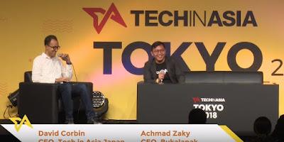 Achmad Zaky di Tech In Asia Tokyo