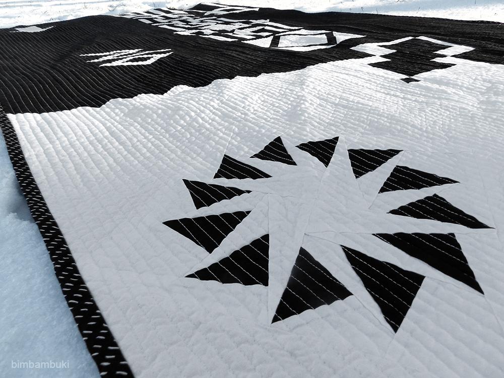 bimbambuki schwarz wei quilt fertig. Black Bedroom Furniture Sets. Home Design Ideas