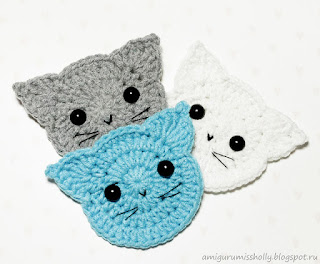 kitten coaster free crochet pattern