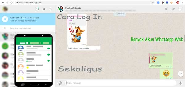 cara login atau masuk banyak akun whatsapp web secara bersamaan