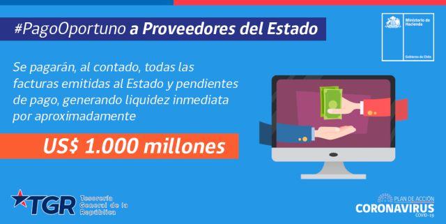 Portal anuncia pago a 30 días a proveedores del Estado
