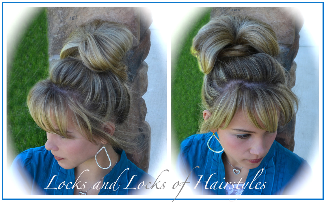 Hairstyles With Donut Bun: Locks And Locks Of Hairstyles: Quick And Easy Video