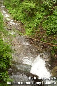 Каскад водоспаду згори