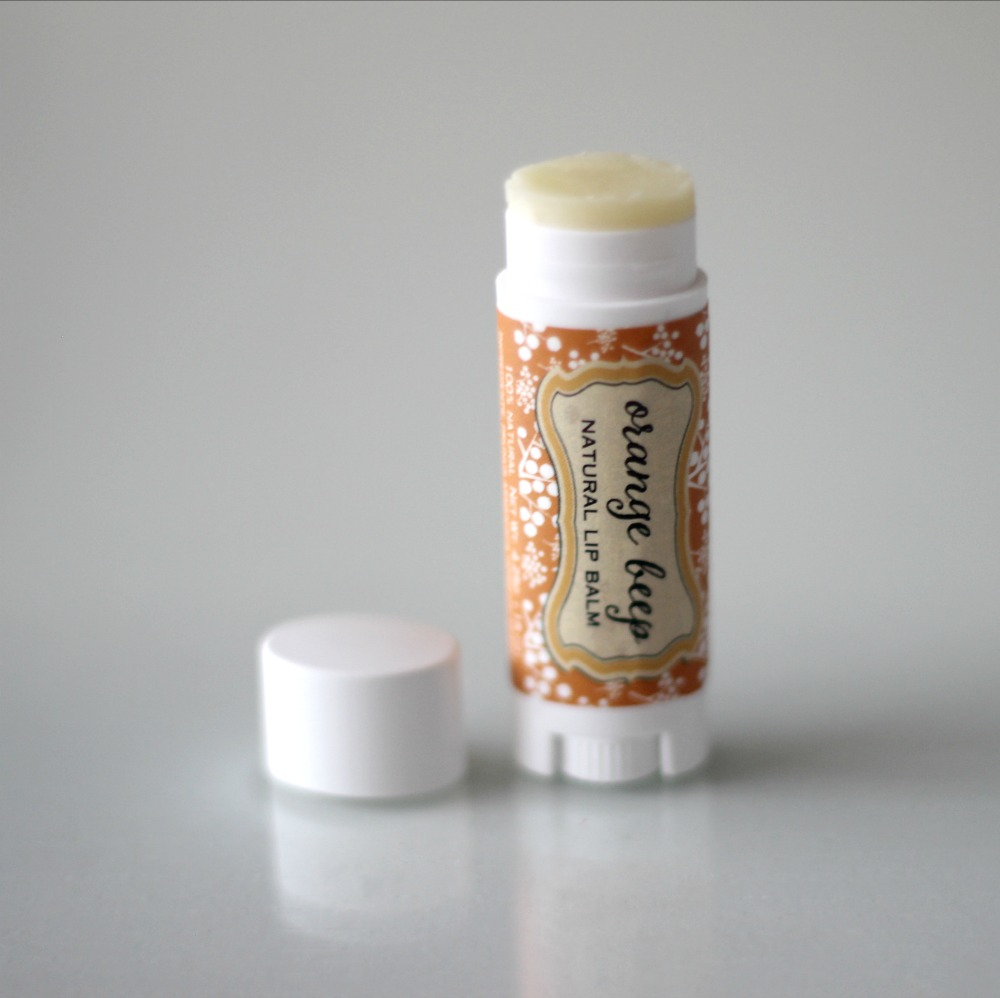 Pearl & Daisy Natural Soap Company Orange Beep Lip Balm