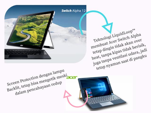 Pekerjaan Kantor Dan Blogging Lancar Dengan Acer Switch Alpha 12