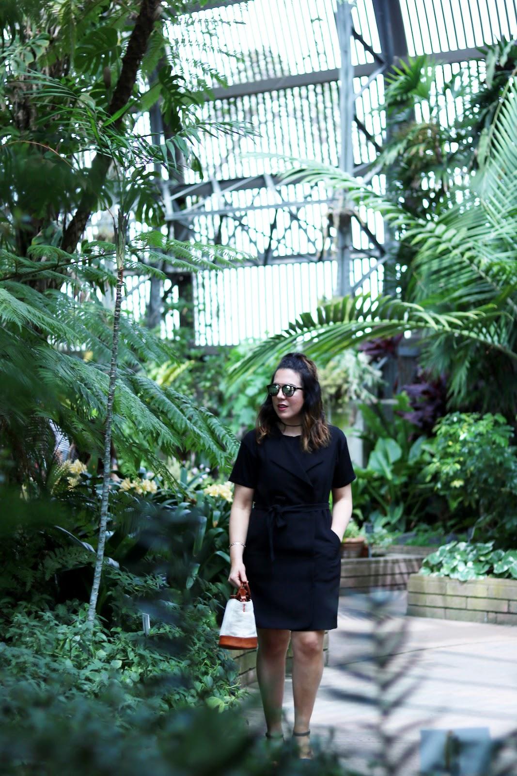 Le Chateau vest dress vancouver blogger cute summer outfit Balboa Park San Diego outfit