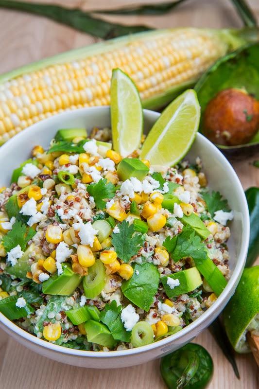 Esquites Quinoa Salad with Avocado Recipe on Closet Cooking