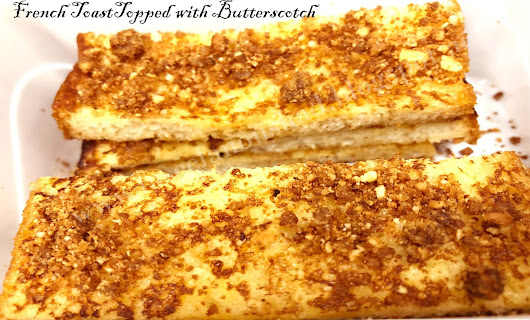 Bread Toast Topped with Butterscotch