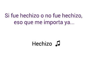 Ana Gabriel Hechizo significado de la canción.