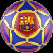 Bola de futebol com o escudo do Barcelona