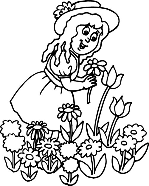 Garden flower colouring pages for children disney for Flower coloring pages for preschoolers