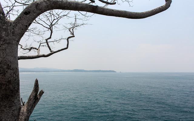pemandangan atas tebing karang bokor