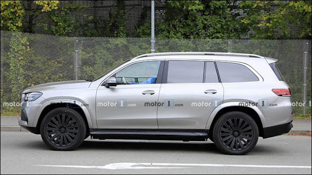 Mercedes-Maybach GLS chạy thử không có lớp camo ngụy trang