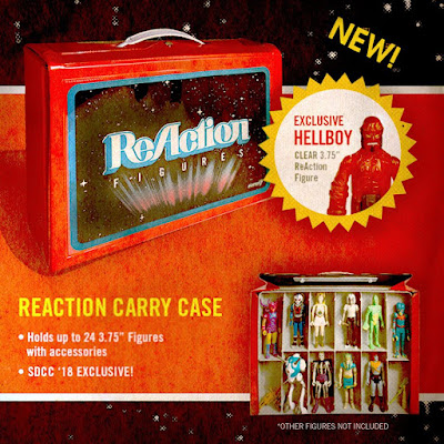 San Diego Comic-Con 2018 Exclusive ReAction Figures Carry Case with Clear Red Hellboy ReAction Figure by Super7