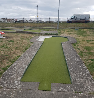 The Crazy Golf course in Prestatyn, Wales
