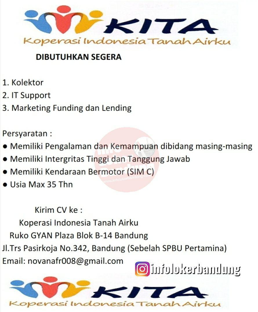 Lowongan Kerja Koperasi Indonesia Tanah Airku Bandung Mei 2019