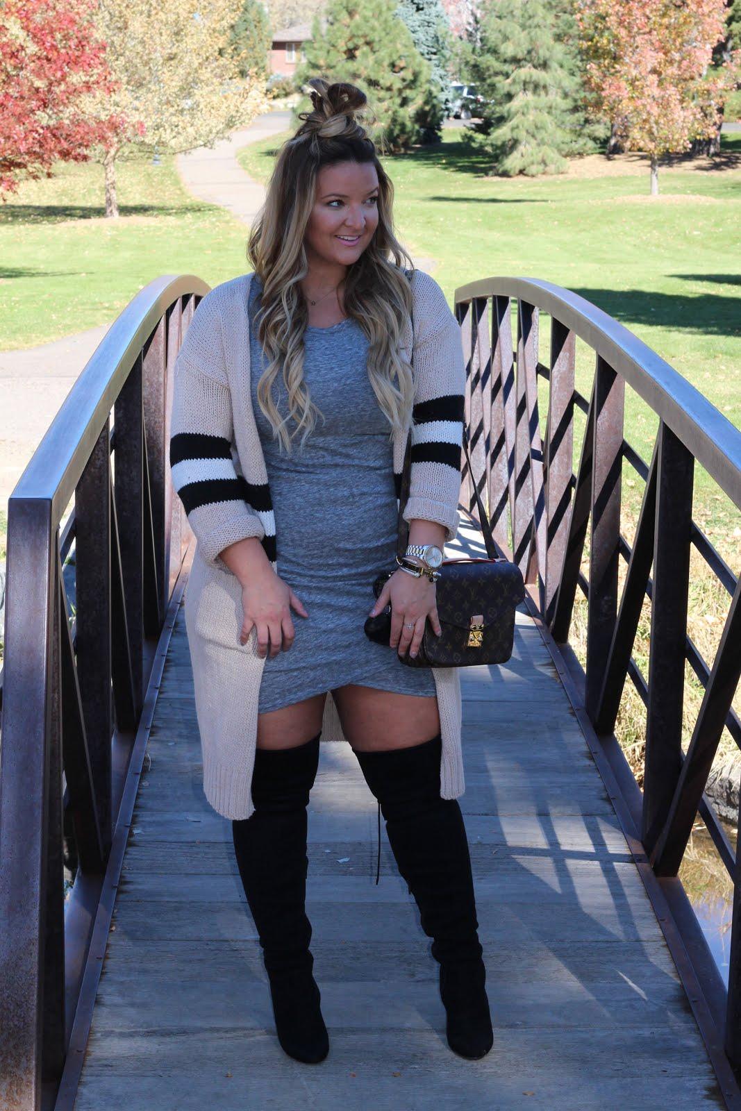 1 Colorblock Cardigan 3 Ways  by Denver fashion blogger Delayna Denaye