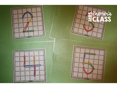 Hands-on number making using geoboards & elastics!