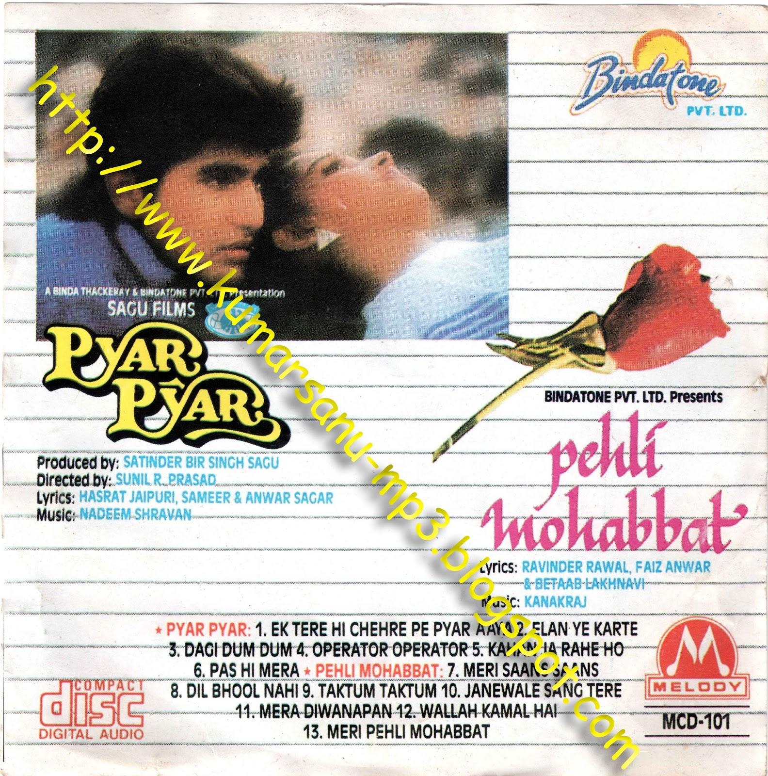 Pheli Mulakat Rohanpreet Mp3 Dowanload: Sanump3songs: Pehli Mohabbat (1993) Original