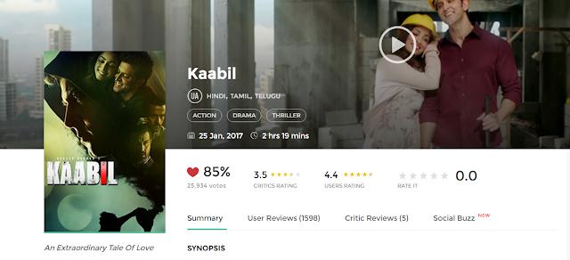 Kaabil (2016) Full Hindi Movie in HD 720p avi mp4 3gp hq free