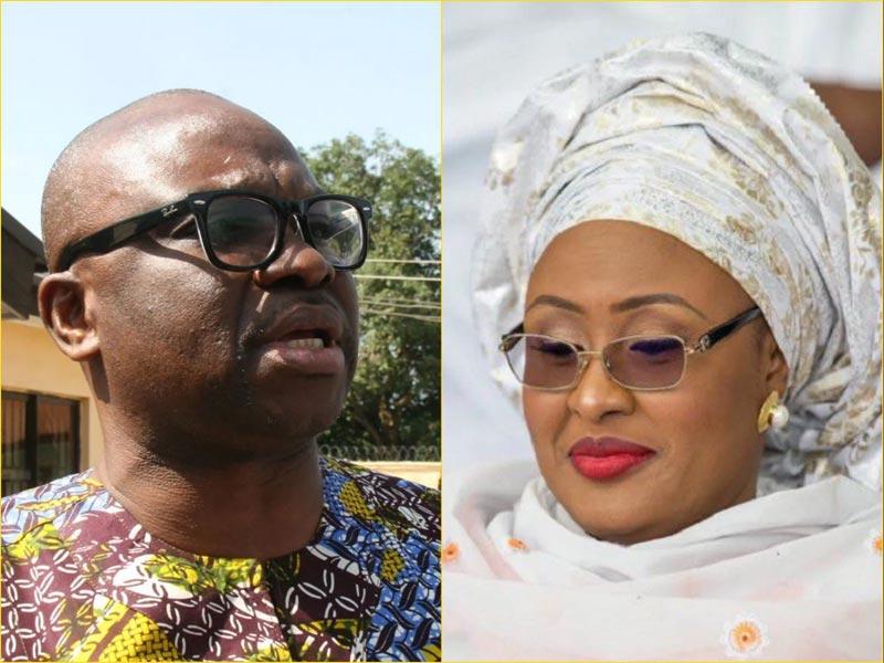 Fayose finally responds to Aisha Buhari United States travel