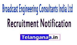 Broadcast Engineering Consultants india Limited BECIL Recruitment Notification 2017