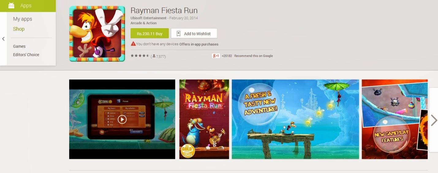 Rayman Fiesta Fun