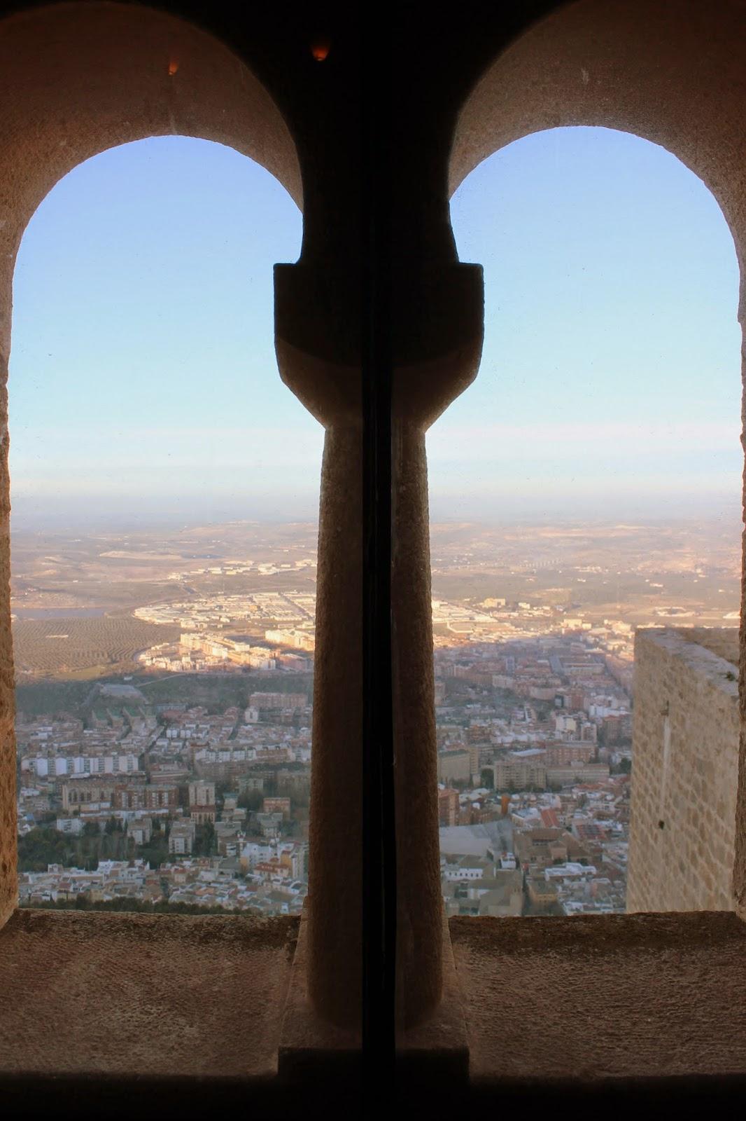 Vistas desde el Castillo de Santa Catalina en Jaén