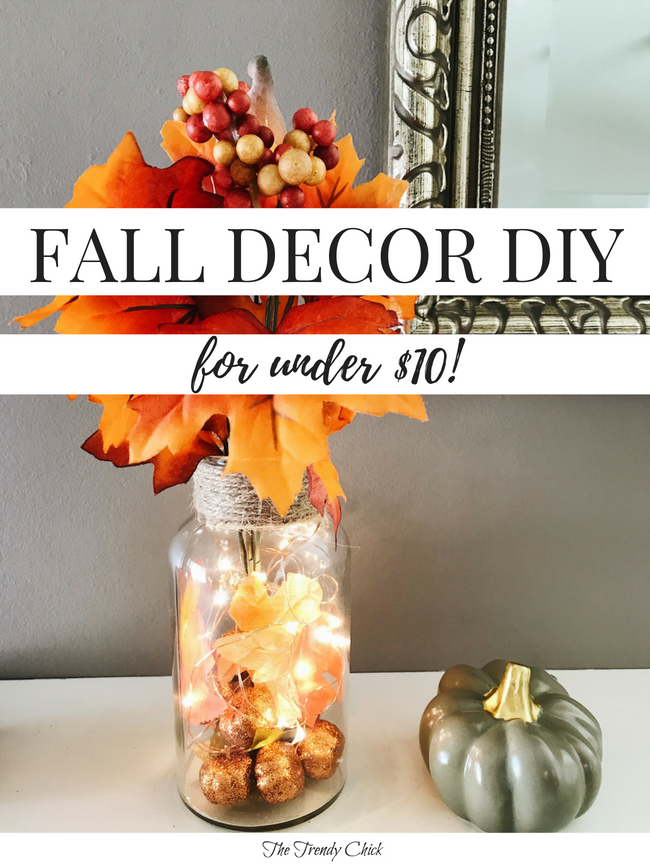 Dollar Tree Fall Decor DIY