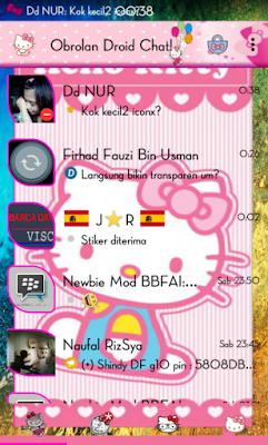 Droid Chat! v5.7.26 Hello Kitty Themes Based BBM 2.9.0.49 (Backup Sticker RR)