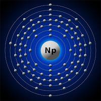 Neptünyum atomu elektron kabuk modeli