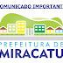 COMUNICADO IMPORTANTE DA PREFEITURA DE MIRACATU SOBRE AS AULAS