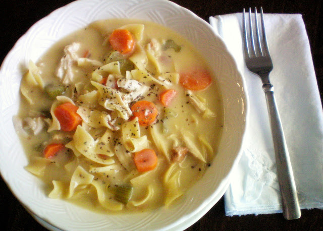 crock pot creamy chicken noodle soup