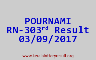 POURNAMI Lottery RN 303 Results 3-9-2017