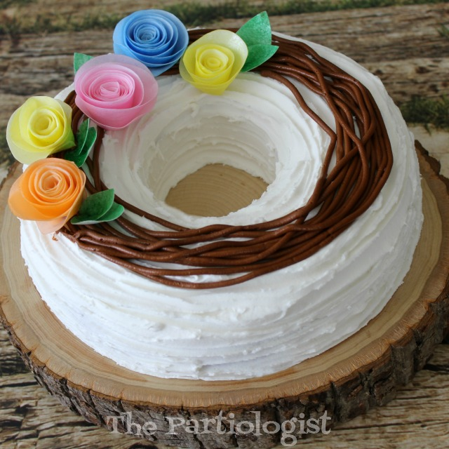 How to make a wafer paper flower cake