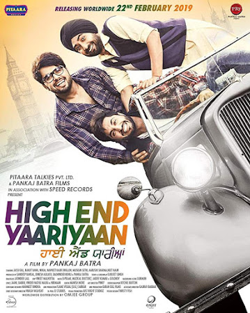 Poster Of Pollywood Movie High End Yaariyaan 2019 300MB HDRip 480P Full Punjabi Movie