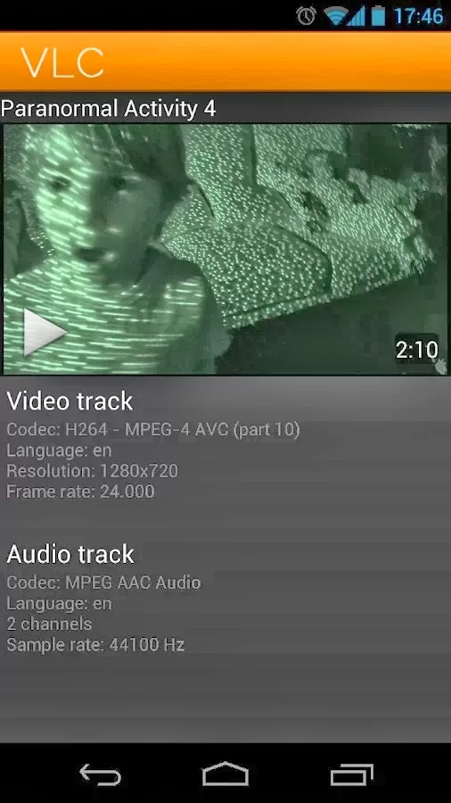 video audio track