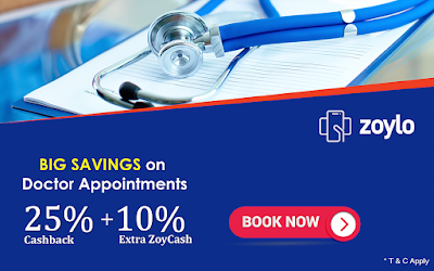 Zoylo Cashback Offer on Doctor Appointment Booking