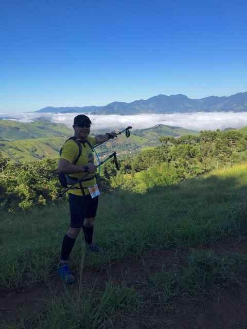Anderson Nogueira durante competição na Serra da Mantiqueira.